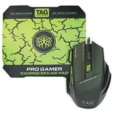 Mouse,Tag,TAG PRO GAMER GAMING Optical Mouse + Mouse Pad